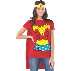 Tops - Wonder Woman t-shirt w/ cape and headband costume